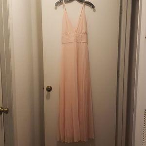 Lulus Blush pink maxi dress xl
